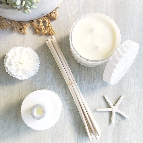 Every day Scents Mandala Soy Candle and Premium Reed Diffuser Duo