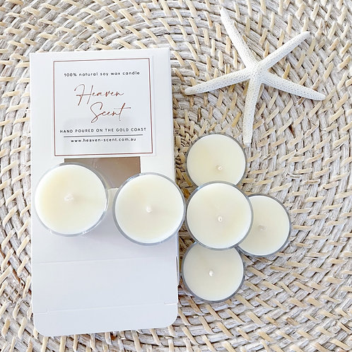 Unique Scents Soy Tea Lights (Pack of 6)