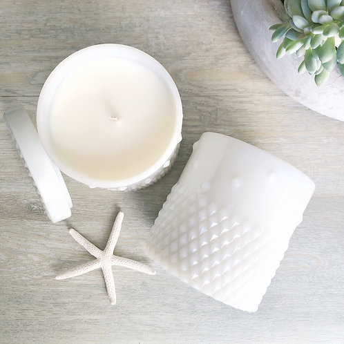 White Stud Jar Soy Candle