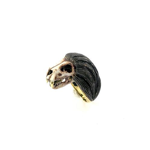 Leo Lion skull   Zodiac ring in Realistic
