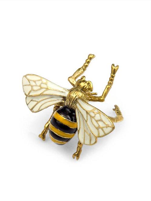Flying Bee ring in brass