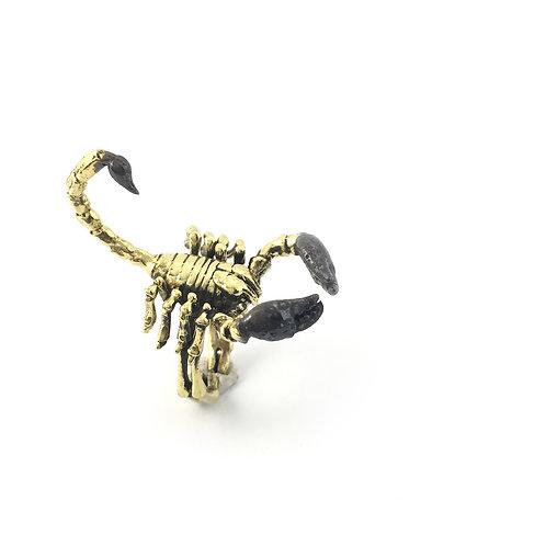 Scorpio Scorpion Zodiac ring in Brass