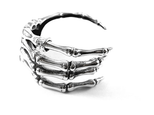 Skeleton jewelry collection-Handcrafted  Skeleton hand  bangle in brass