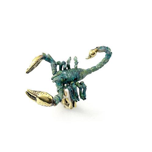 Scorpio Scorpion Zodiac ring Patina color