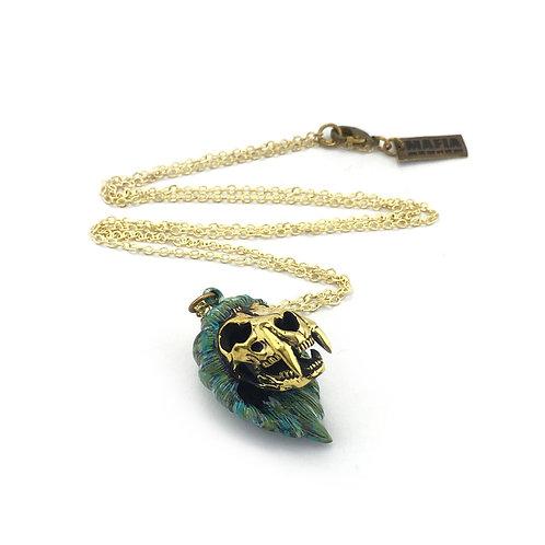 Lion skull is for Leo patina  Zodiac pendant