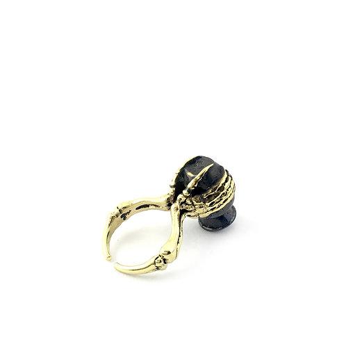 Aquarius Water Bearer Zodiac ring in Brass