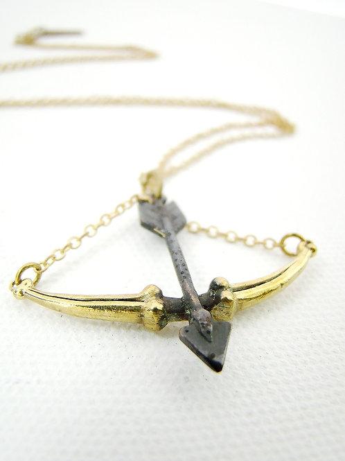 Scales hand bone  Libra Brass Zodiac pendant