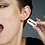 Thumbnail: razor blade earring in brass hand sawing