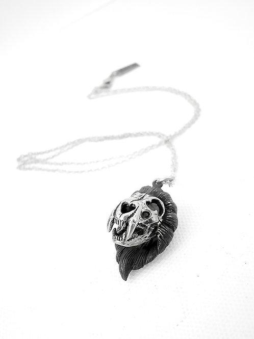 Lion skull is for Leo  Zodiac pendant