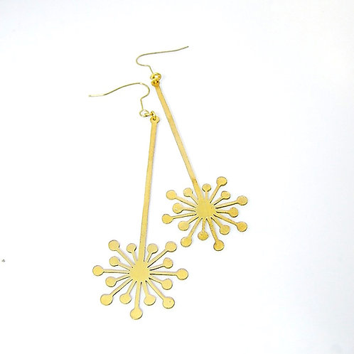 Fire work  earring in brass