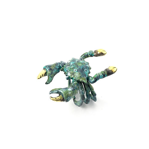 Cancer the Crab  Zodiac ring in Patina color