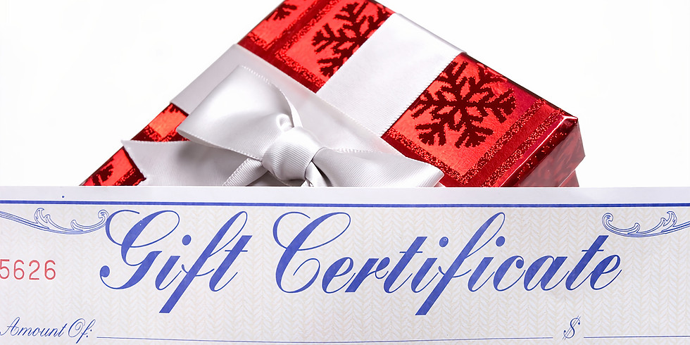 December 2018 Holiday Gift Certificate Special