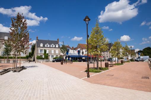 Place du port, Châteauneuf-sur-Loire (45)