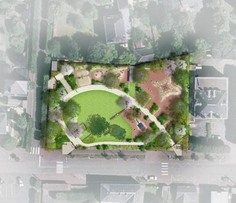 Plan masse Jardin d'enfants, Nogent-le-Rotrou