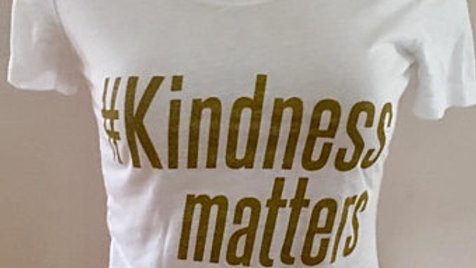Woman's Kindness Matters Fitted Tee