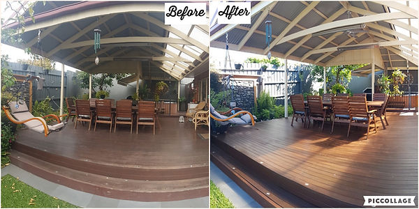 Deck & Outdoor Setting - Mentone - Befor