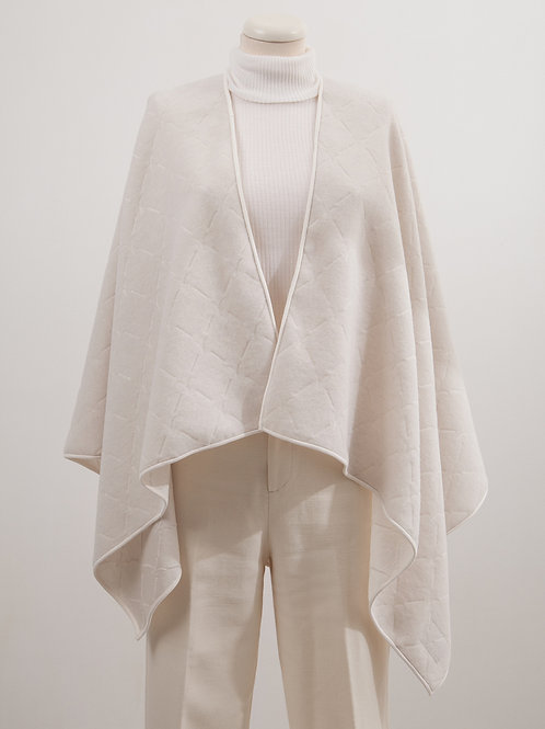 LC2150 LIGHT SILK CASHMERE WOOL LOGO CAPE