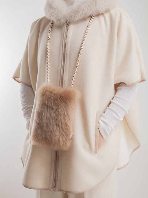 LC2151 LIGHT BLEND CASHMERE WOOL PONCHO