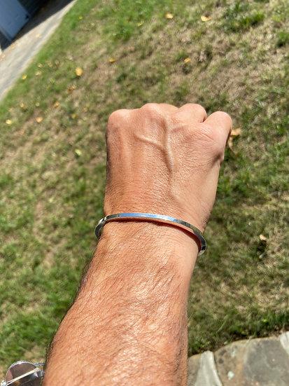 Sterling silver man's bracelet