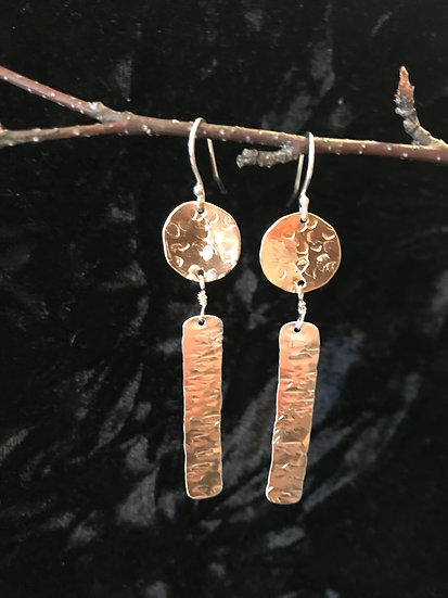 Sterling silver and 14 karat gold filled earrings