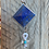 Thumbnail: SOLD - Sterling silver with lapis lazuli pyramid pendant