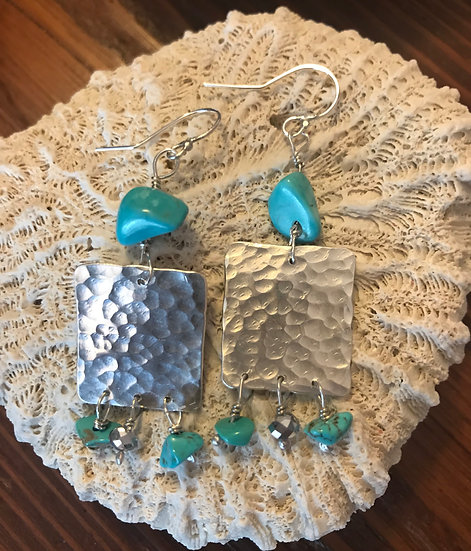 Sterling silver with turquoise