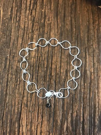 Sterling silver omega bracelet