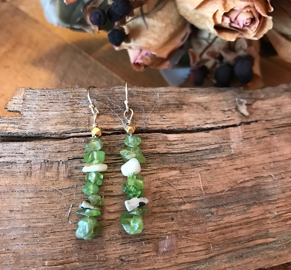 Sterling silver with peridot earrings