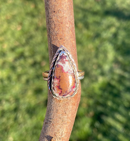 Sterling silver native copper ring