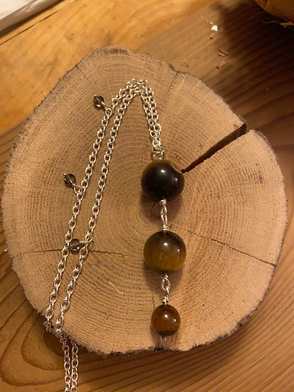 Sterling silver with tiger eye
