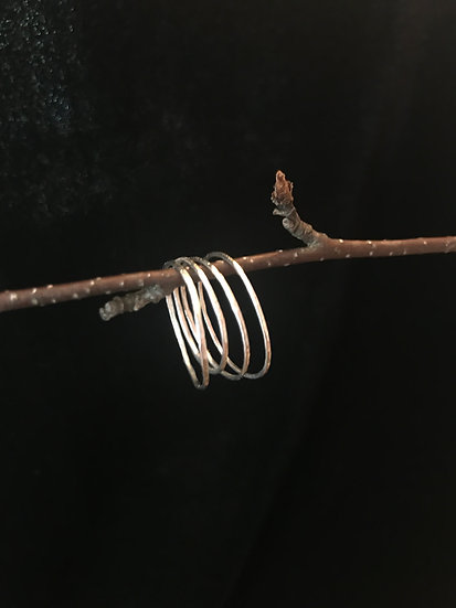 Sterling silver skinny stackable rings