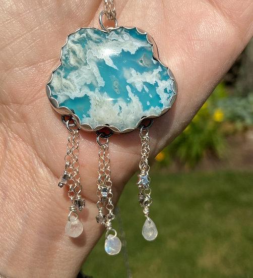 Sterling silver cloud pendant