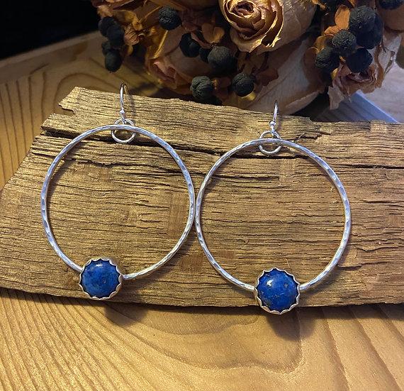 Sterling silver lapis lazuli earrings