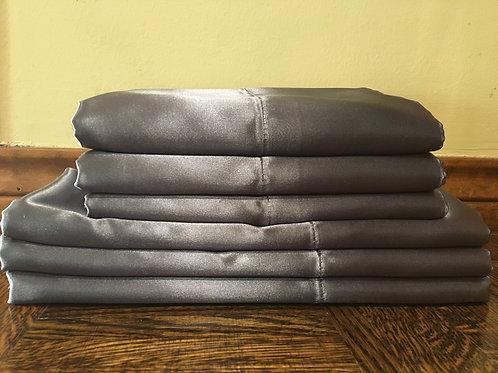 Charcoal Bridal Satin Pillowcase