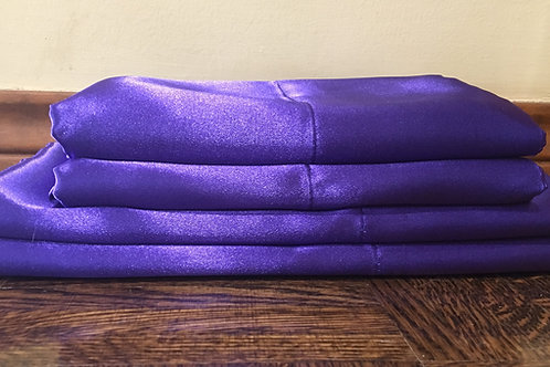 Dark Purple Bridal Satin Pillowcase