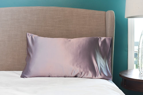 Violet Bridal Satin Pillowcase