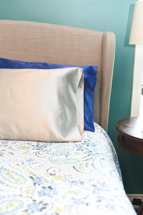 Silver Bridal Satin Pillowcase
