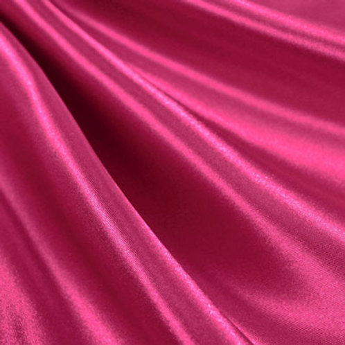 Hot Pink Bridal Satin Pillowcase