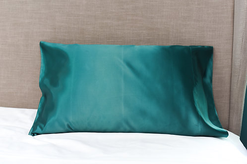 Emerald Green Bridal Satin Pillowcase