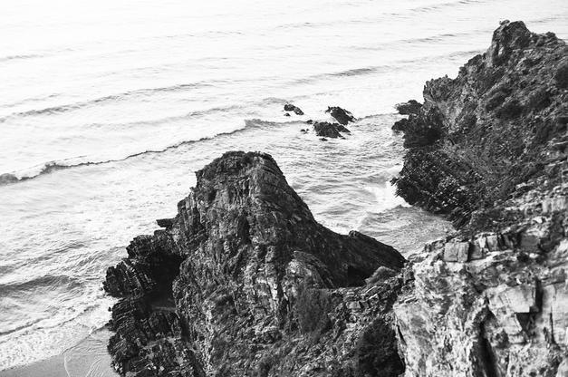 On the Rocks (B&W)