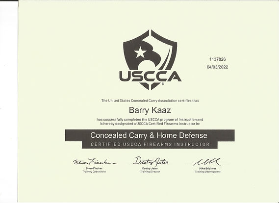 USCCA Concealed Carry ad Home Defense In