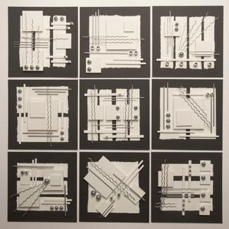Nine White Squares