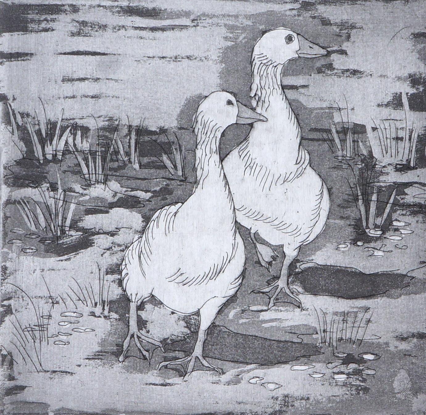 Geese 2  32 x 32 cms