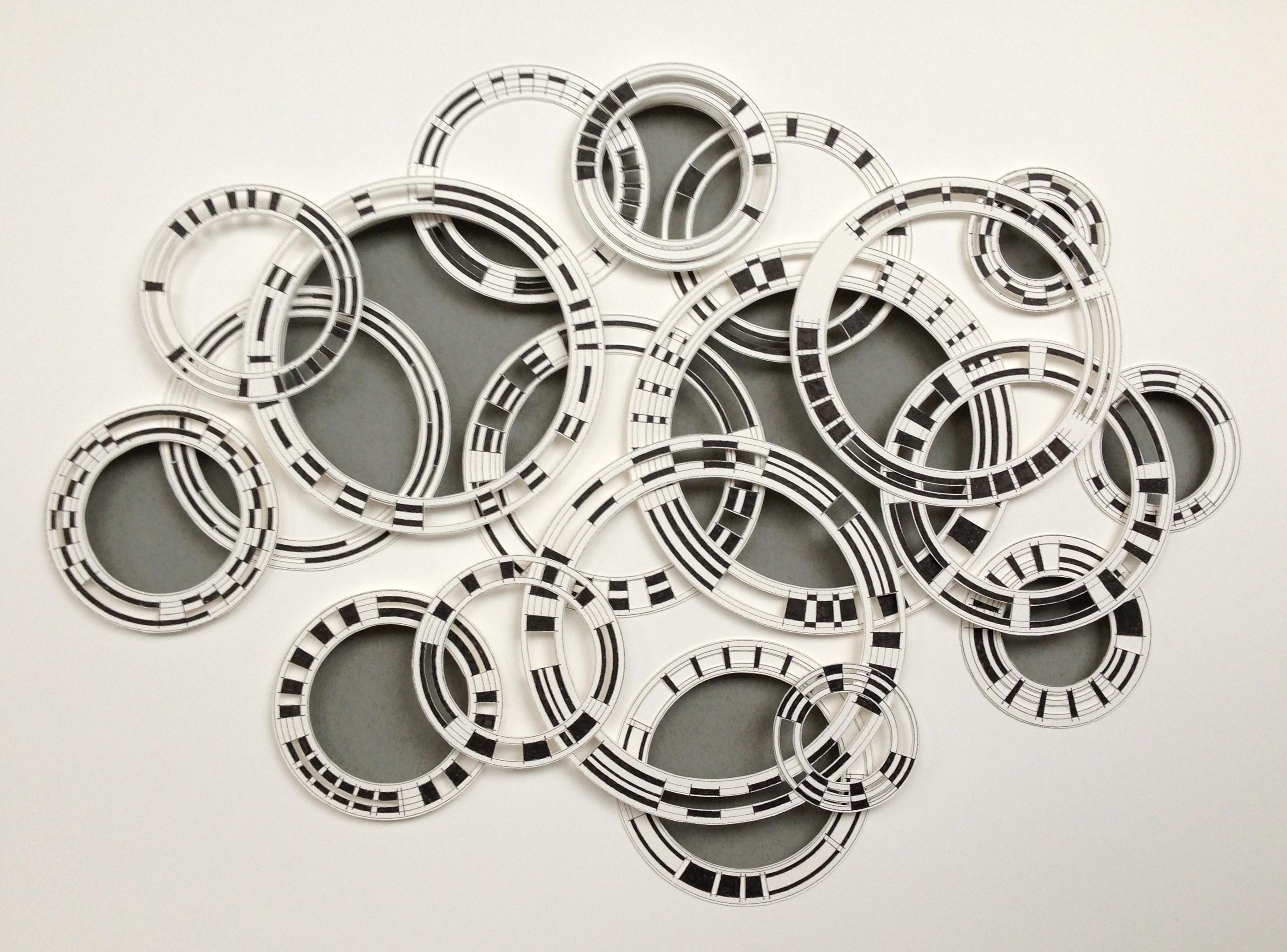 black and white circles 64 x 85cms