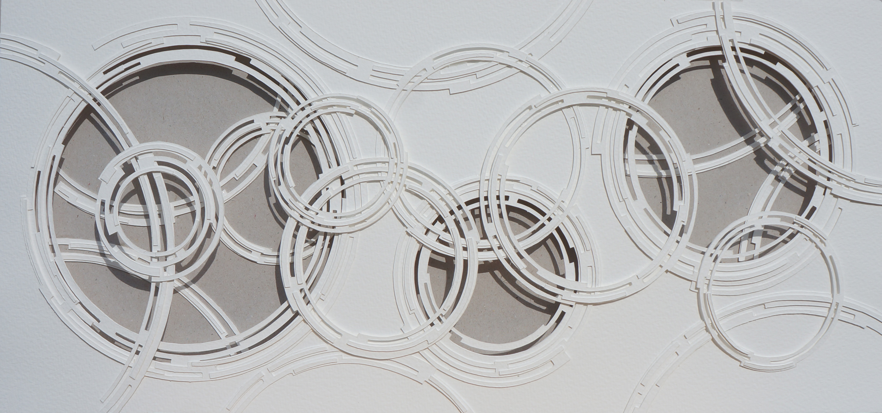 Grey and White Circles 62 x 32 cams