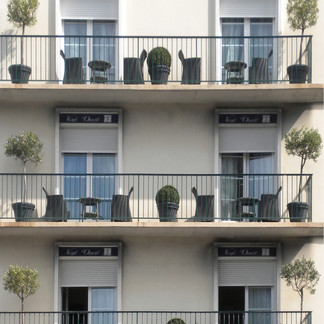 French Balconies in Le Harvre