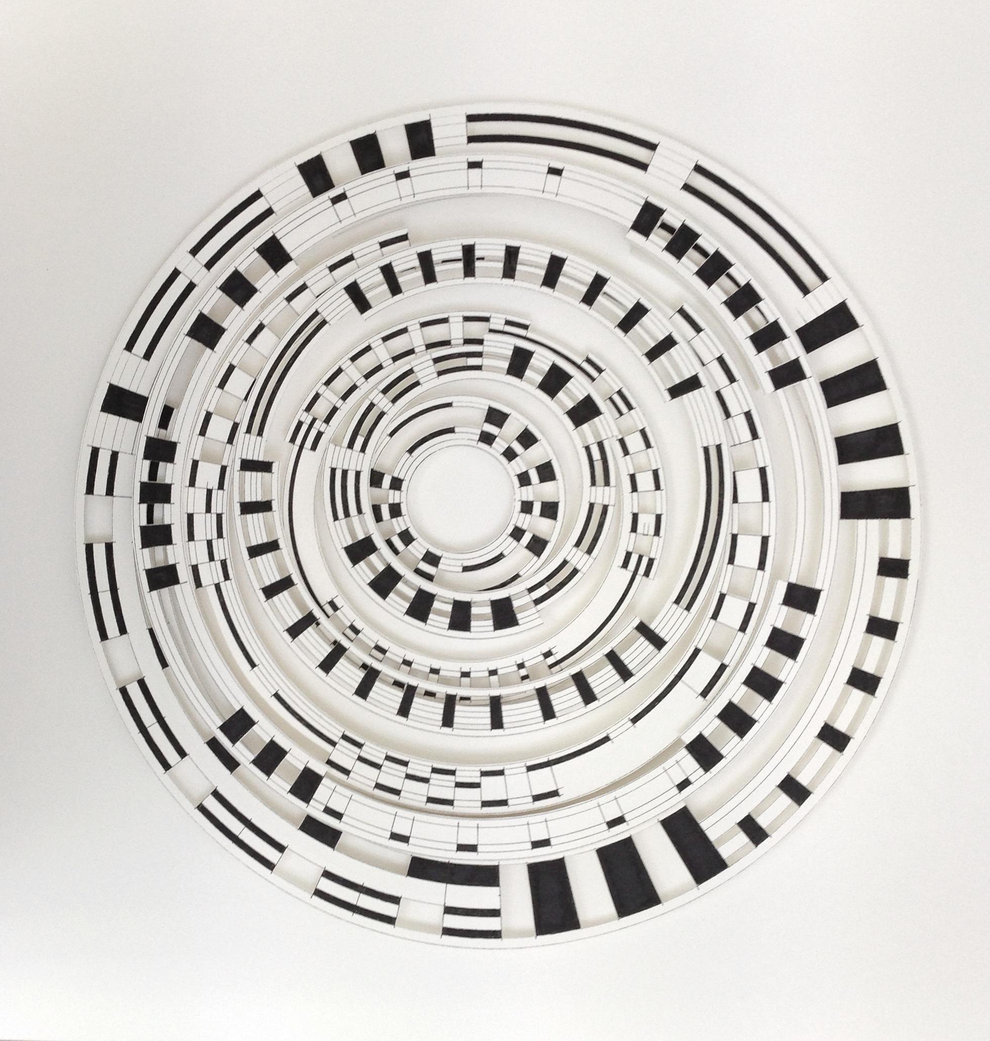 Off Centre Circle  58 x 58cms