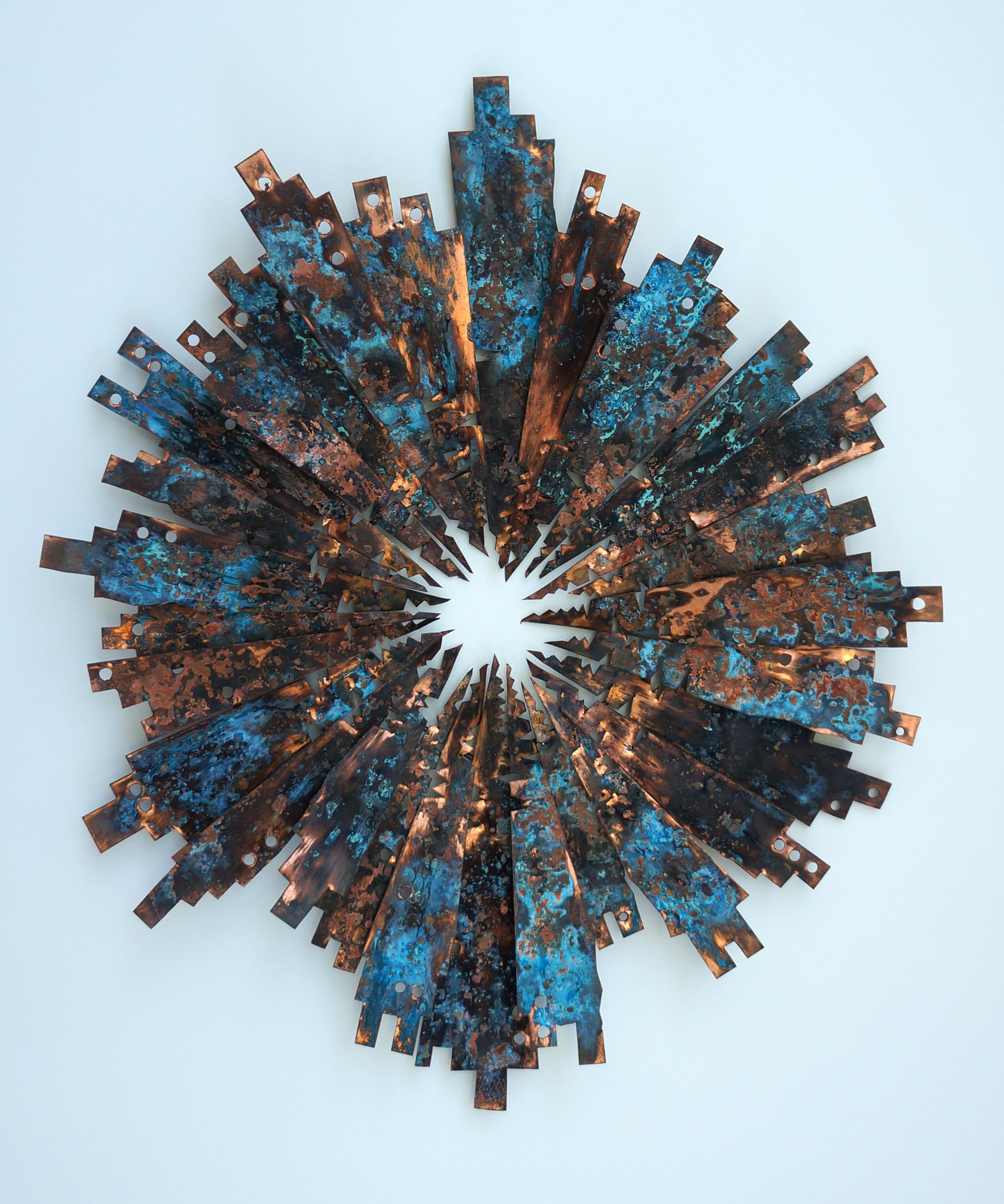 copper circle   49 x 40cms