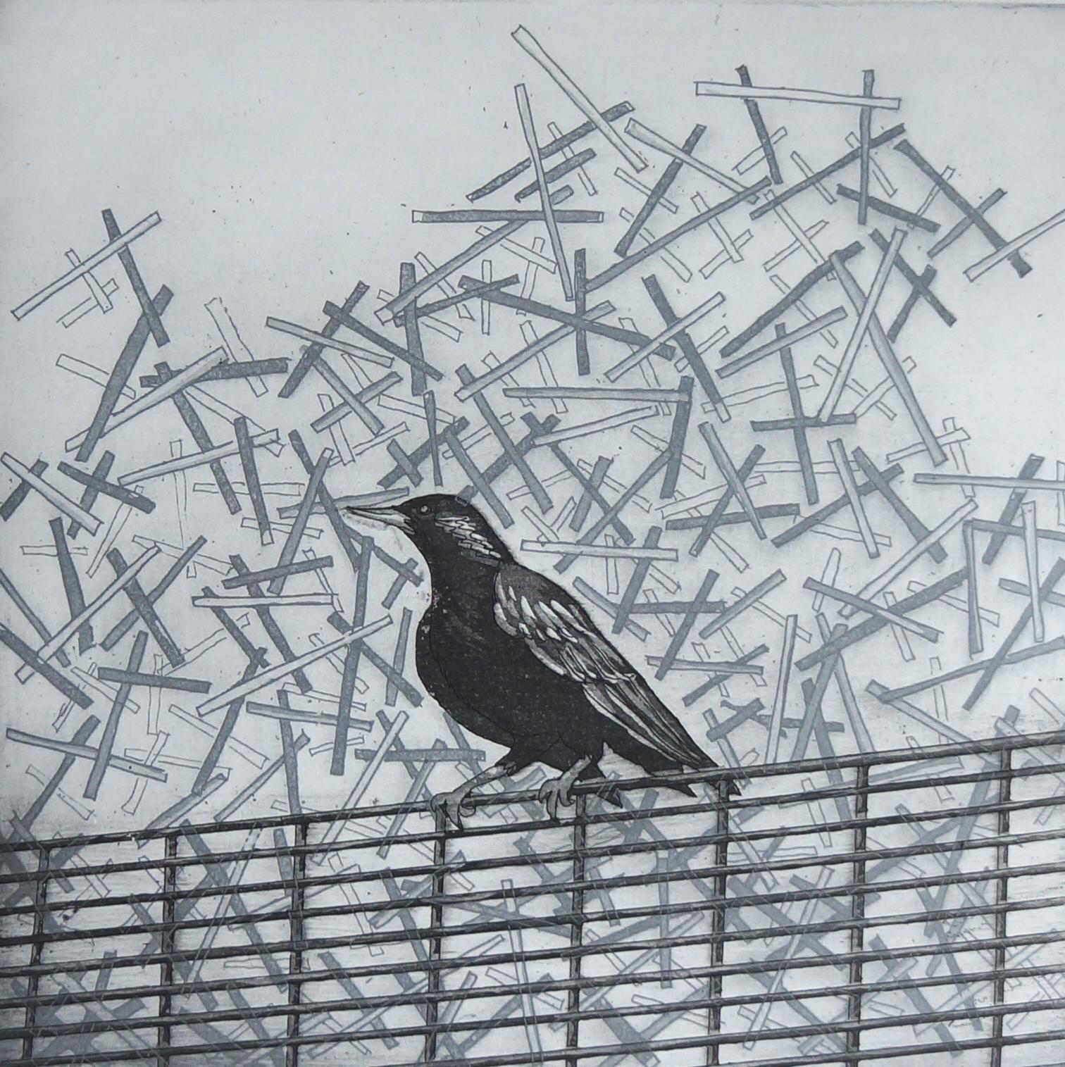 Bird at the 02  32 x 32 cms