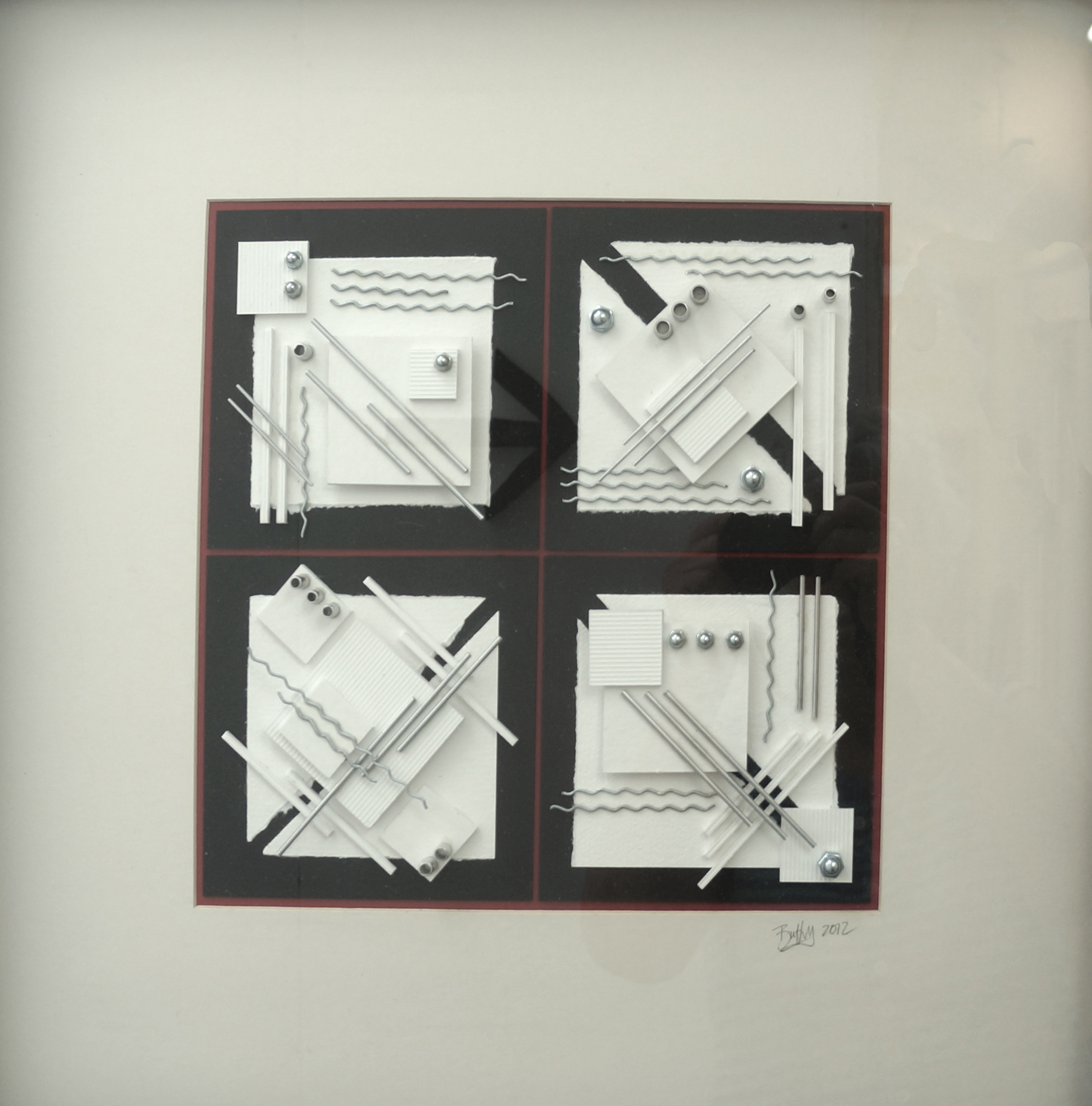 four white squares 52 x 52cms